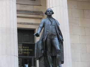 George Washington Statue in der Wall Street