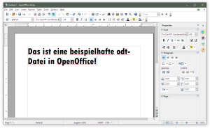ODT-Datei in OpenOffice